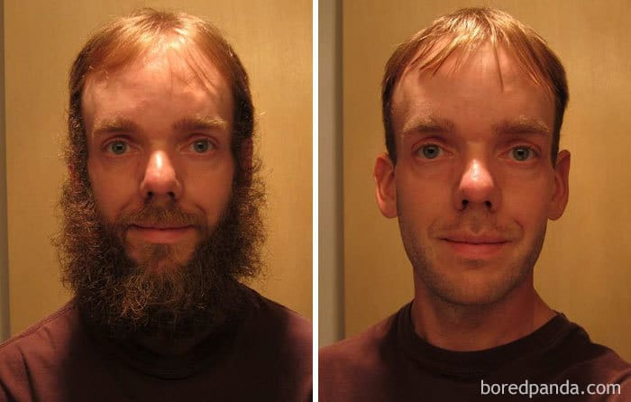 Before And After Shaving