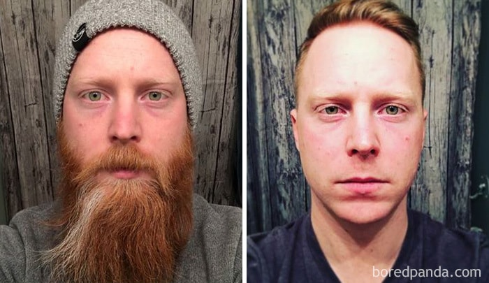 Before And After I Shave
