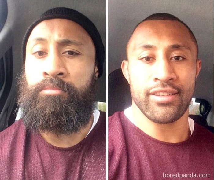 Roy Asotasi Shaved His Beard To Raise Money