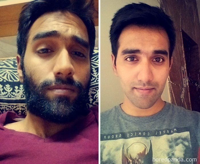 Before & After Shaving