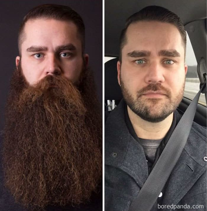 After 3 Years Of The Beard Life My Buddy Matt Shaved His Beard