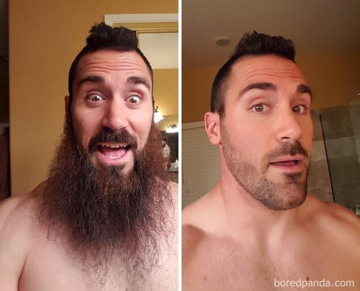 Beard Is Gone