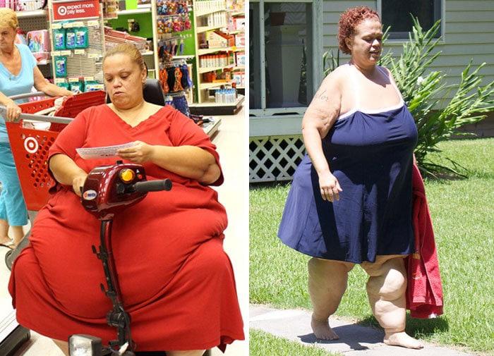 Тара была 606 фунтов, она упала до 278 фунтов