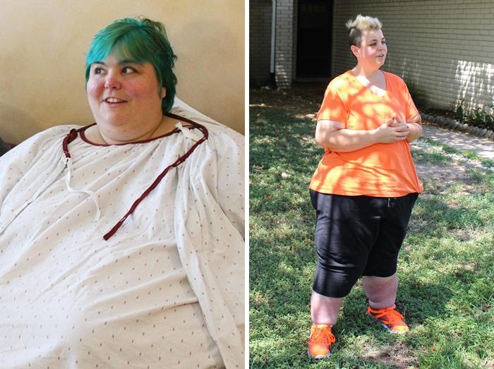 Паула была 533 фунтов, она упала до 379 фунтов