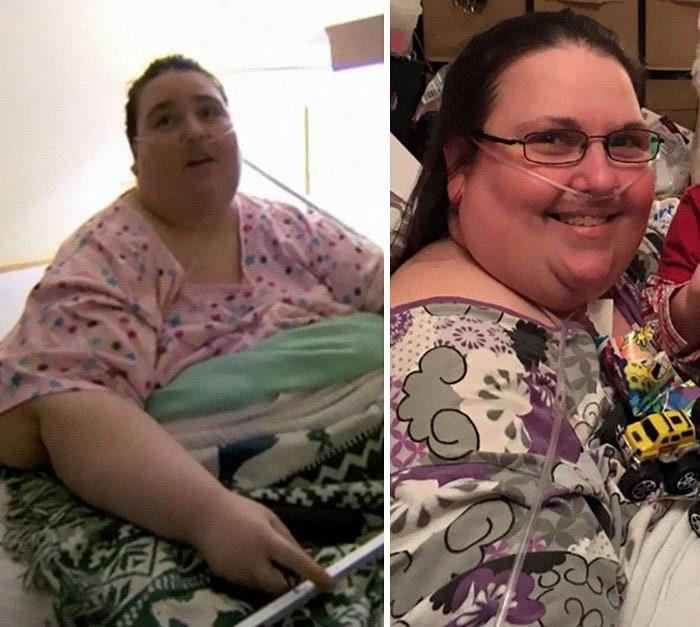Пенни Saeger было 494 фунтов, она упала до 454 фунтов
