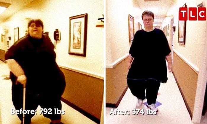Джо Векслер был 792 фунта, он упал до 374 фунтов
