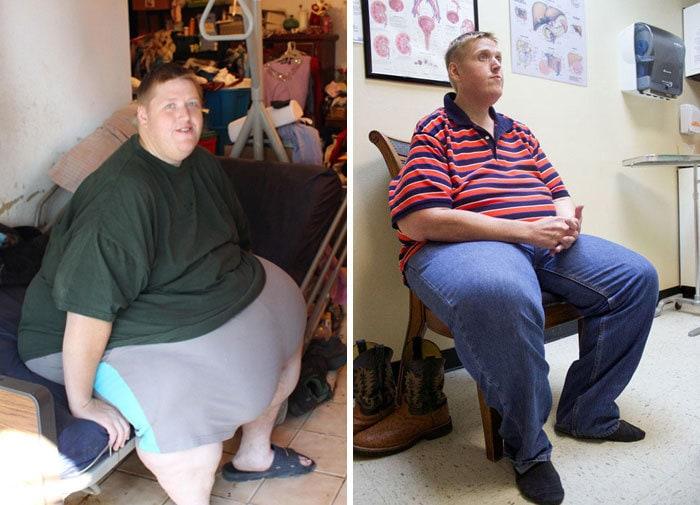 Джеймс был 728 фунтов, он упал до 352 фунтов