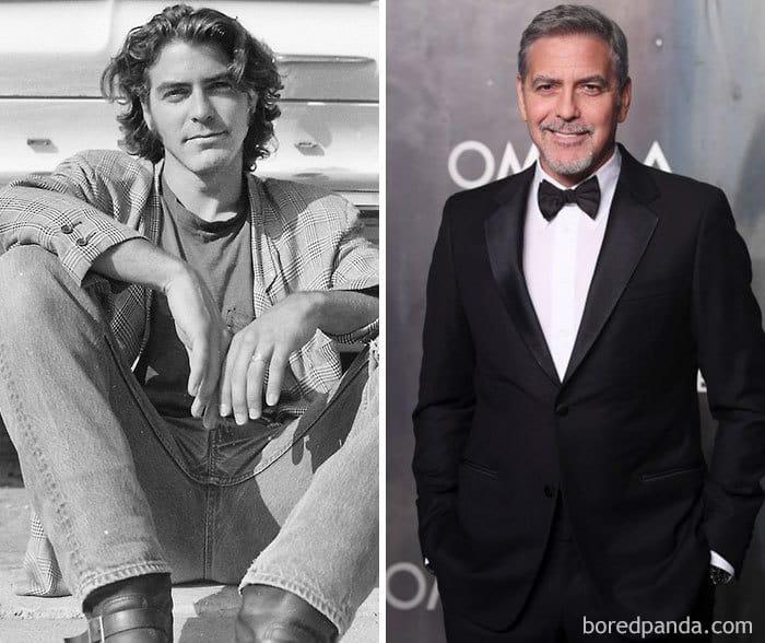 Джордж Клуни продал женскую обувь, был продавцом страхования от двери до двери, стоял на полках, был строителем, сократил табак