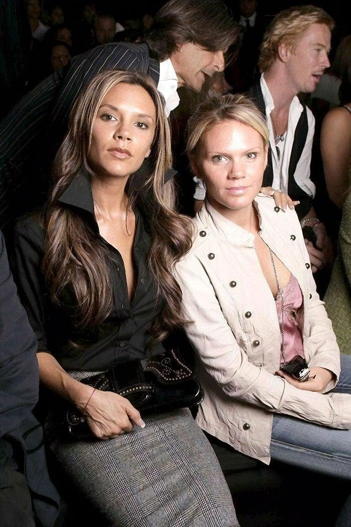 Виктория Бекхэм с сестрой Луиза Адамс