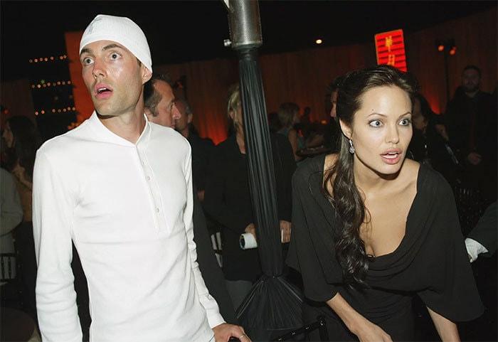 Анджелина Джоли с братом Джеймсом Хейвеном