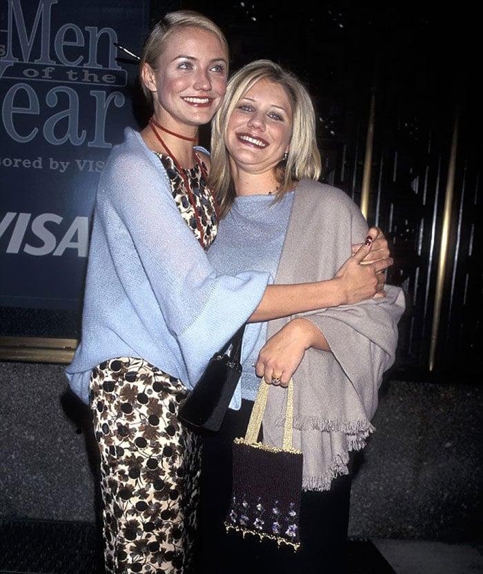 Камерон Диас с сестрой Чименей