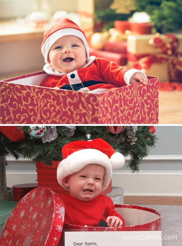 Baby In A Christmas Gift Box