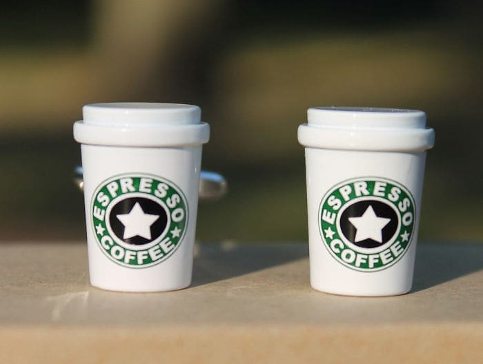 Starbucks Cup Cufflinks