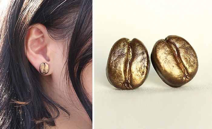 Coffee Bean Earrings