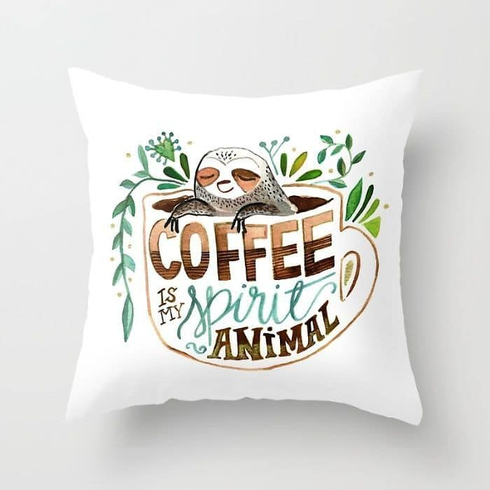 Coffee Quote Pillow Case