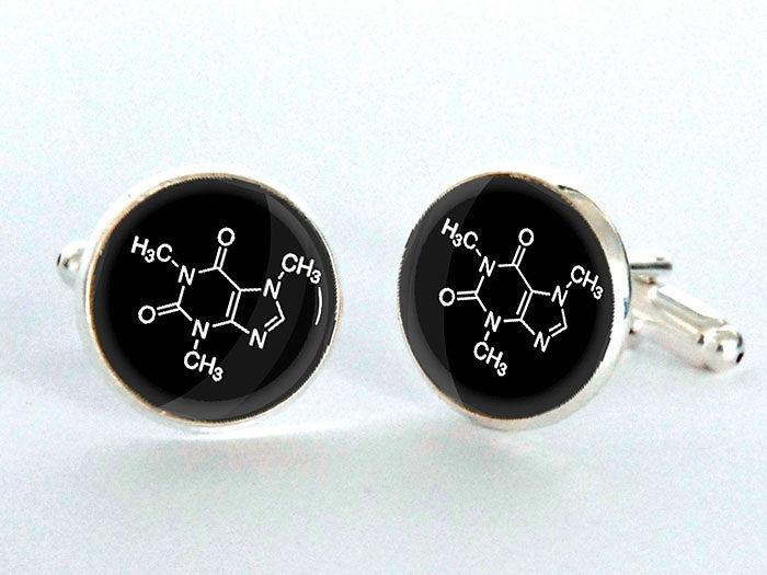 Caffeine Molecule Cufflinks