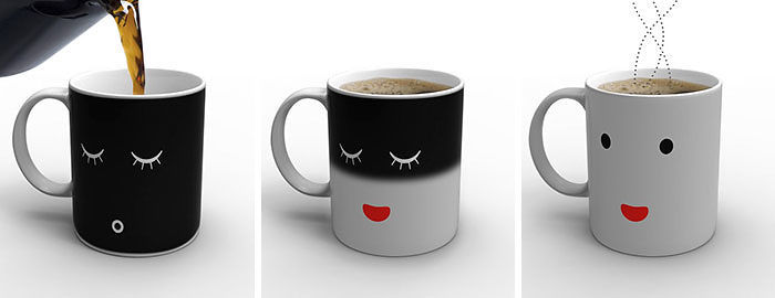 A Mug That Changes Design When You Add Hot Coffee