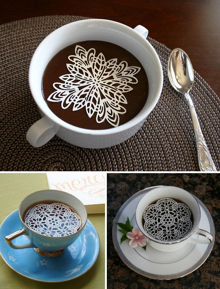 Edible Sugar Doilies For The Prettiest Cup Of Coffee