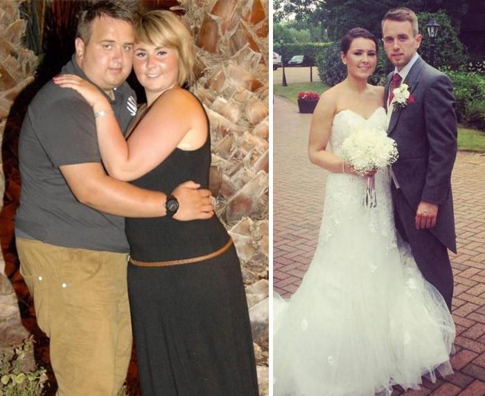 Влюбленые решили, что они не поженятся до тех пор, пока не похудеют.