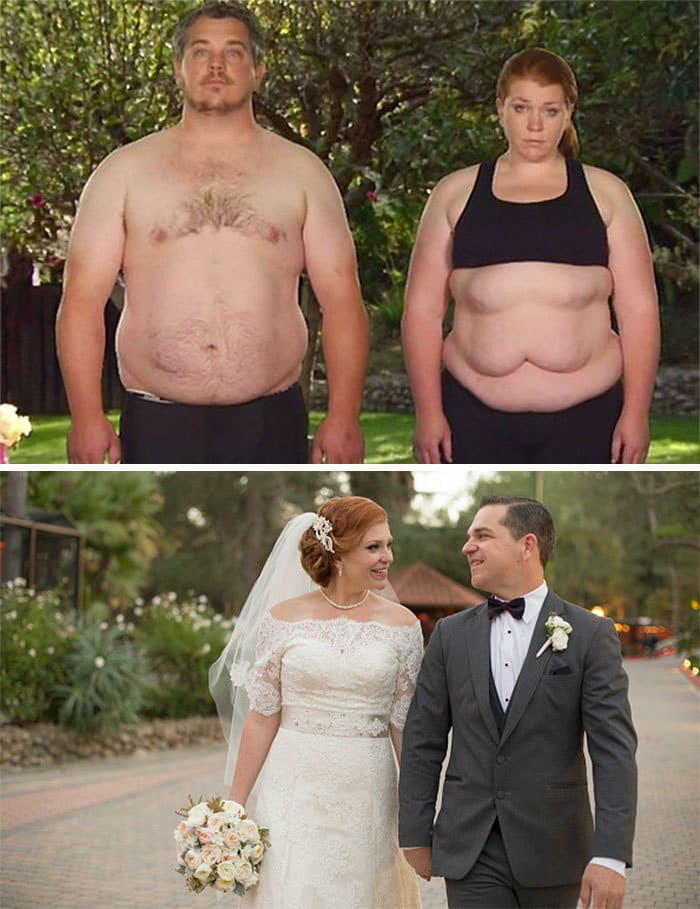 Couple Lose 187 Lbs Between Them Before Their Amazing Wedding