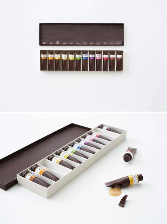 Chocolates Like A Set Of Oil Paints