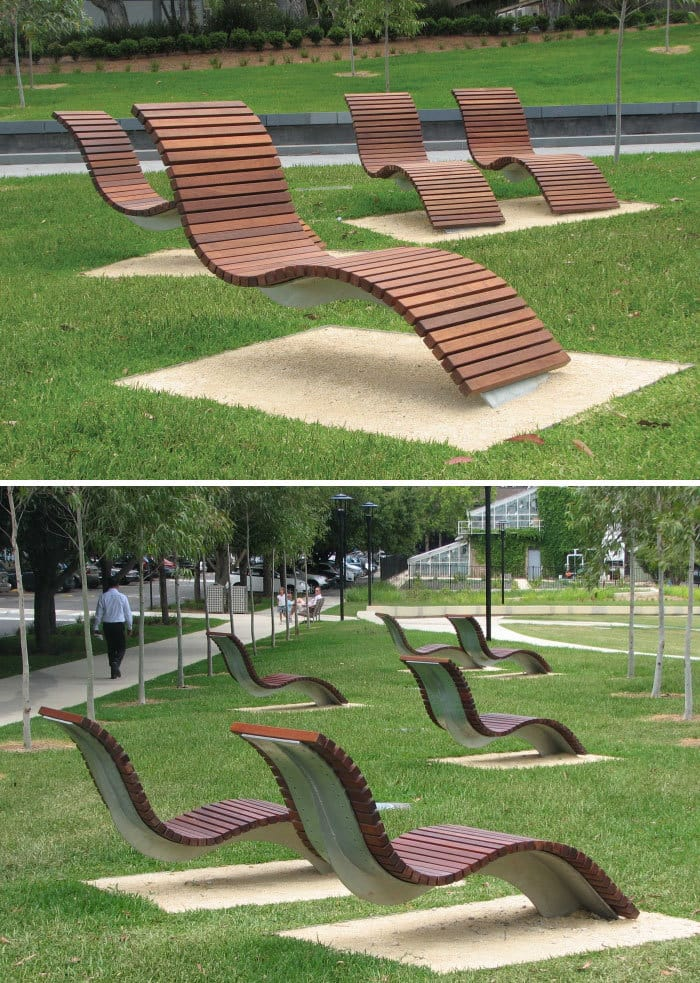 Custom Curve Seats, Cadigal Green, University Of Sydney, Australia