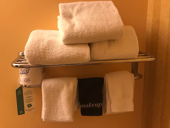 A Hotel Offers Makeup Towels That Won't Show All The Smudges