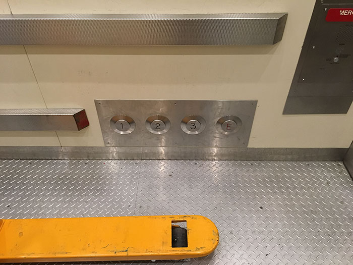 This Elevator Has Buttons You Can Press With Your Feet If Your Hands Are Full