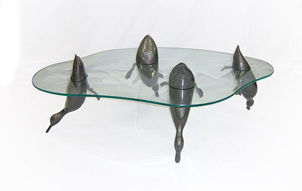 творческие Столы-вода-животных-Дерека-Пирса-13