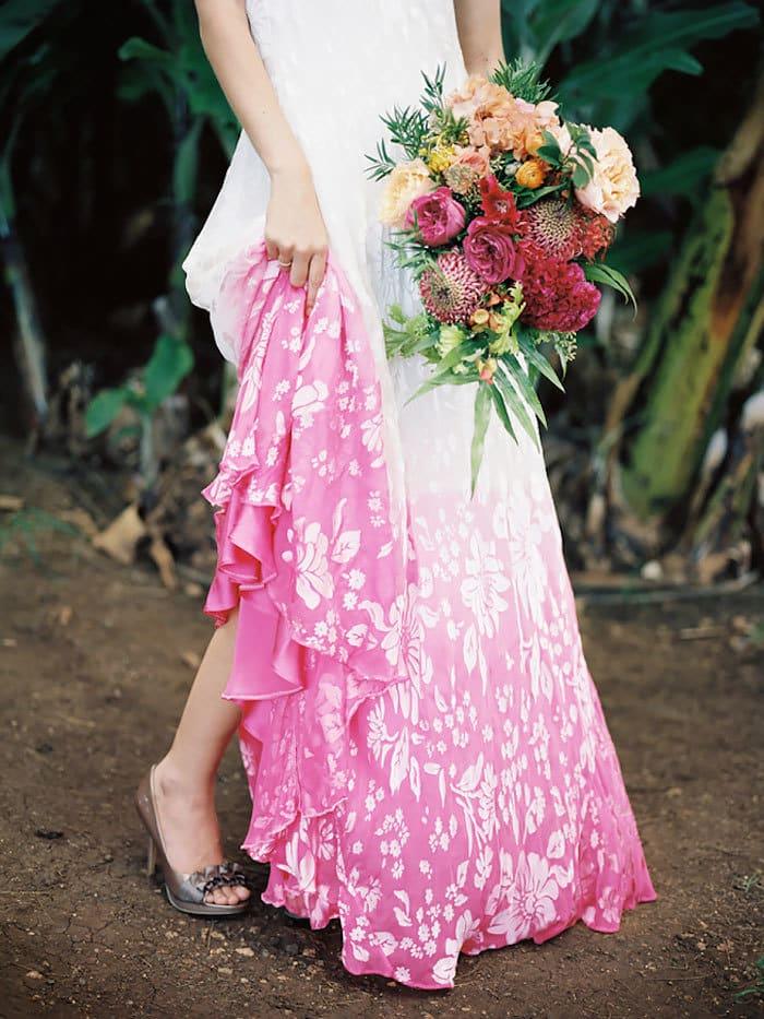 Dip Dye Wedding Dress
