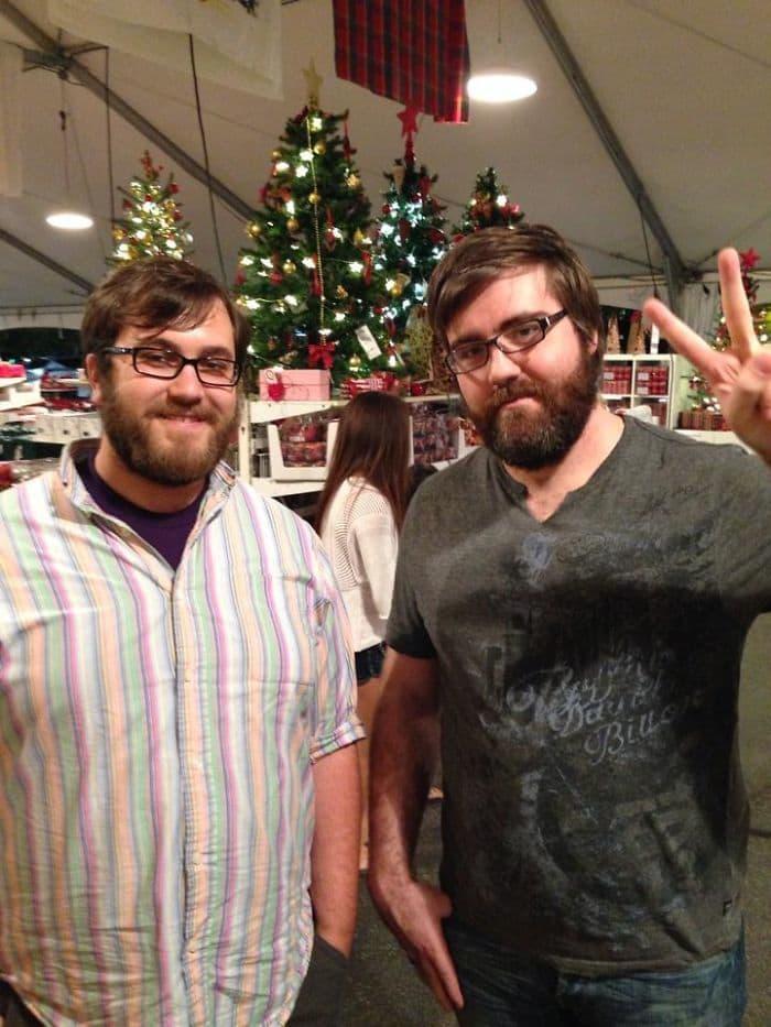My Bf (left) Met His Doppelganger At Ikea Last Night