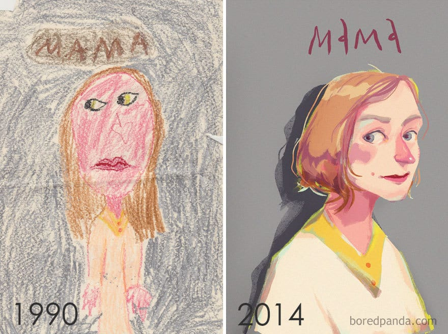 1990 Vs 2014 By Ania Ania