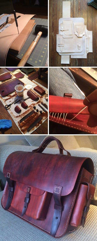 Я сделал мою подругу supercool Кожаный сумка для Рождества