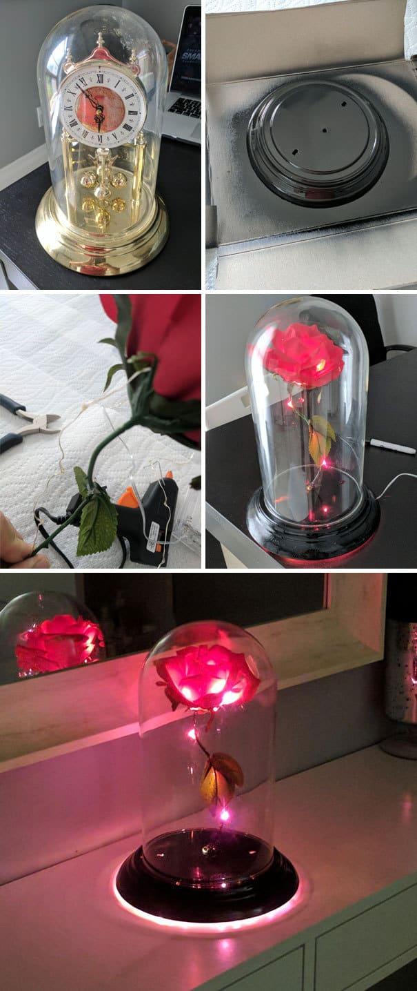 Сделано заколдованная роза для моей жены