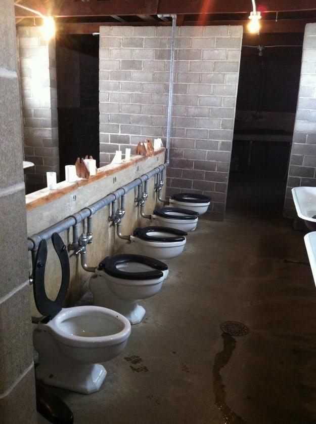 This very public bathroom: