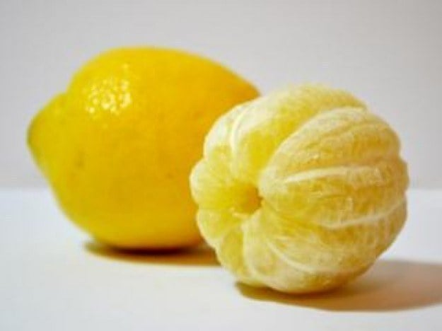 This peeled lemon: