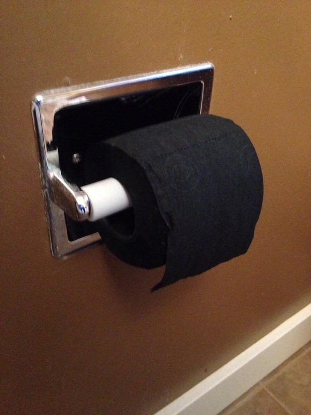 This black toilet paper: