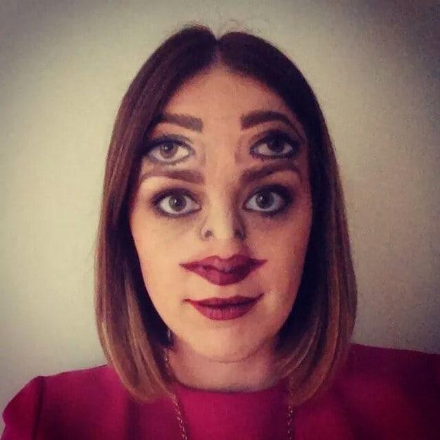 This makeup job: