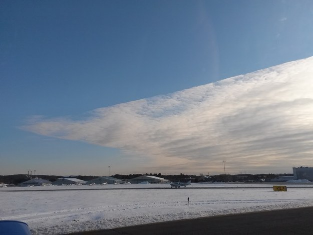 This angular cloud formation: