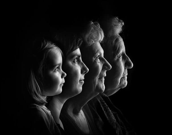 A Woman With Her Mother, Grandmother, And Her Daughter