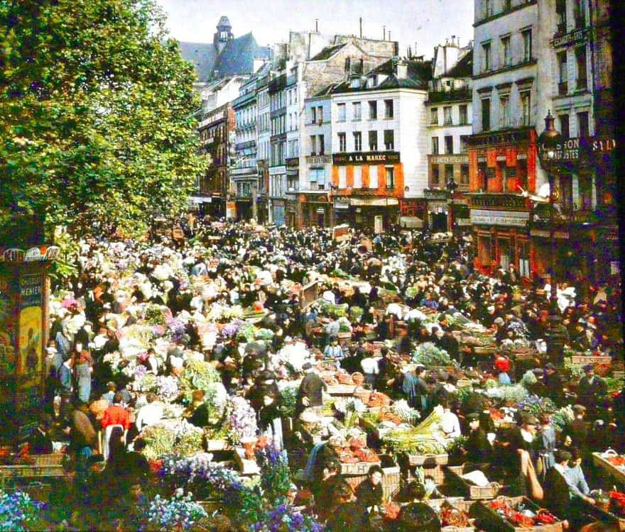 Outdoor Market, Paris, 1914