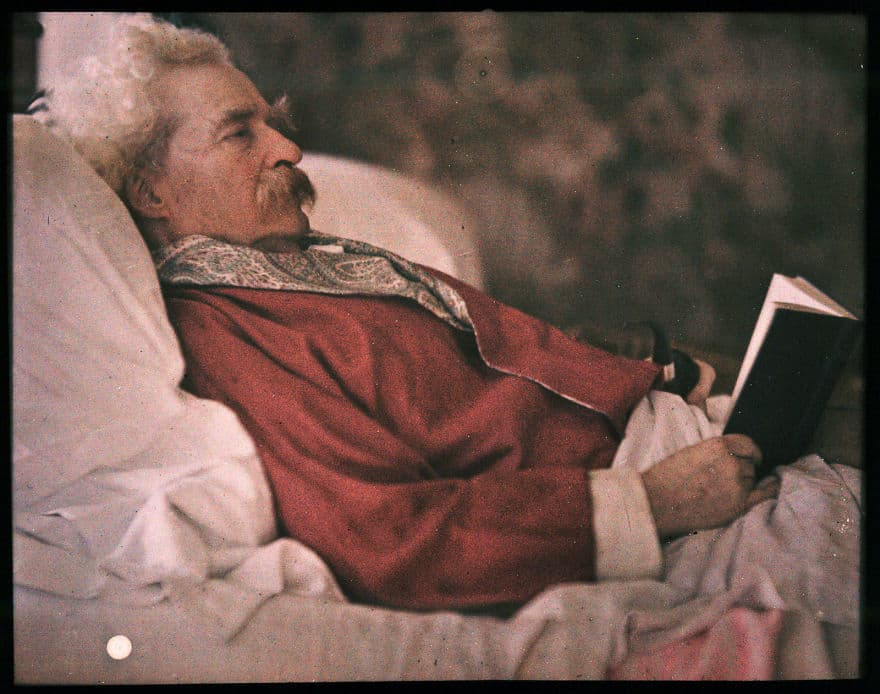 Autochrome Of Mark Twain, 1908