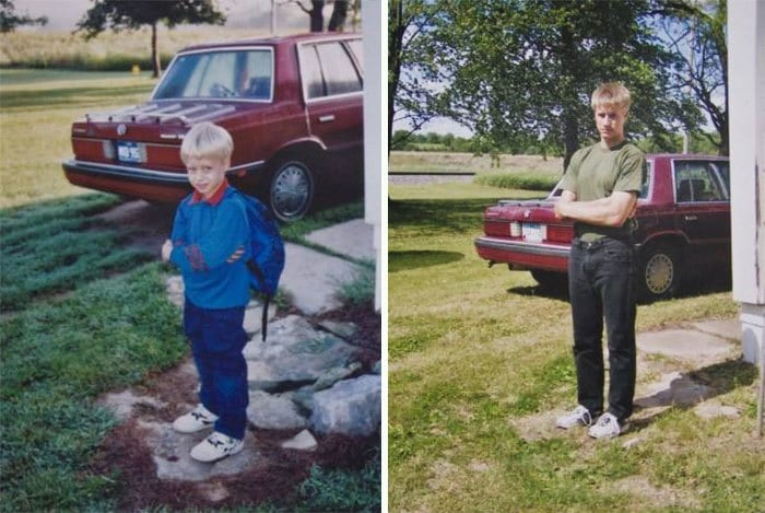 Picture Of Me On My First Day Of Kindergarten And Last Day Of High School