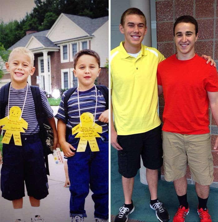 A First And Last Day Of School Picture With One Of My Best Friends