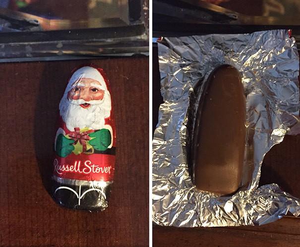 Super Detailed Chocolate Santa