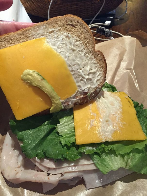Paid Extra For A Serving Of Avocado On This Sandwich