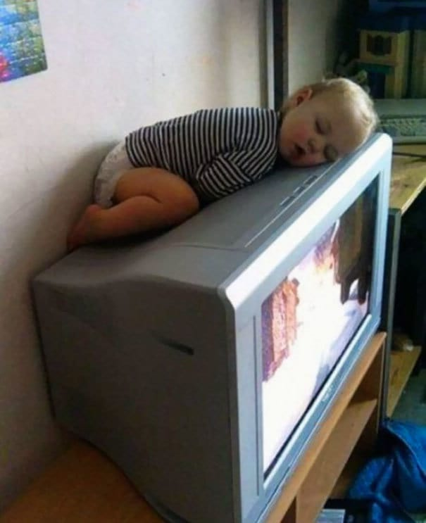 Napping On The Tv