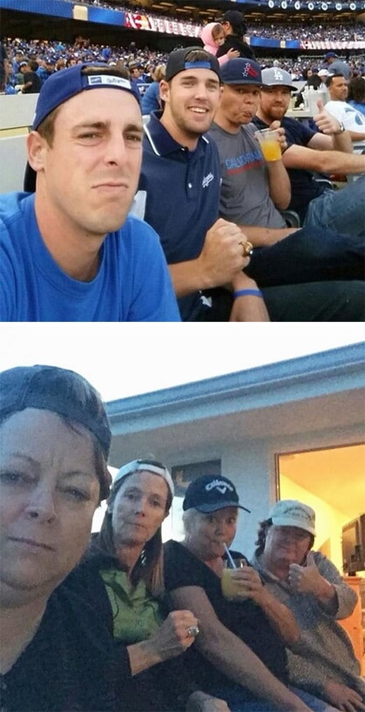 Our Moms Mocked Our Selfie At The Dodger Game