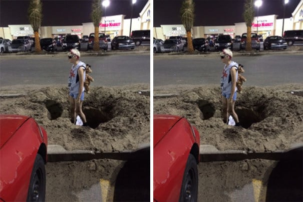 Remember When I Was Temporarily Blind And My Mom Took Me Shopping But I Got Lost In The Parking Lot And Ended Up Confused And In A Hole And She Just Took Pictures Instead Of Helping Me