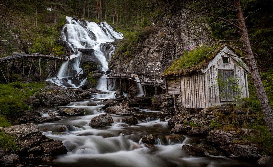 Kvednafossen Waterfall, Norway
